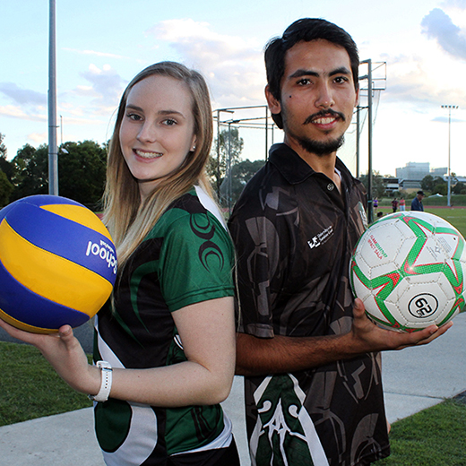 USC Spartans team captains fo the 2015 Northern University Games Angela Johnson and Yoel Jogiono