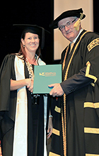 Ipswich resident Tanya Trost graduated from USC with a Graduate Diploma in Health Promotion. Photo supplied by Silver Rose Photography