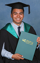 Carseldine student Christopher Delatorre graduates from USC. Photo supplied by silver rose photography