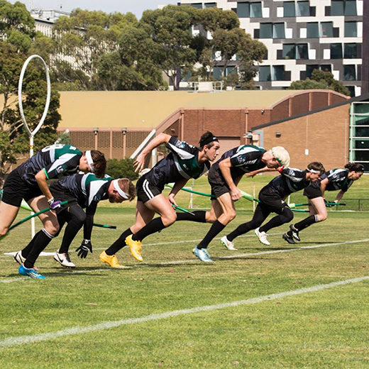 The USC Dementors at the 2015 Oceania Quidditch Championships.