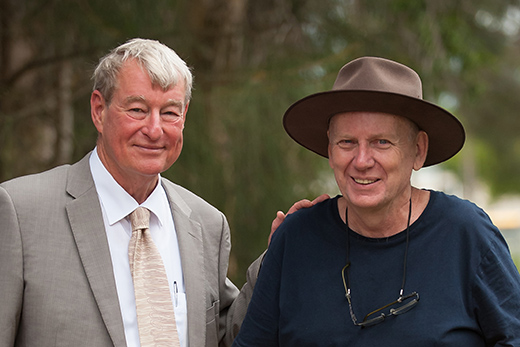 Gerard Mills (right) with Professor Greg Hill