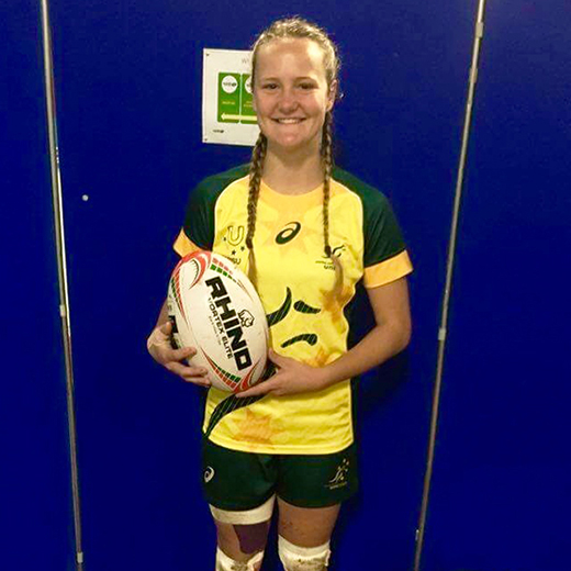 USC student and rugby sevens player Emma Sykes.