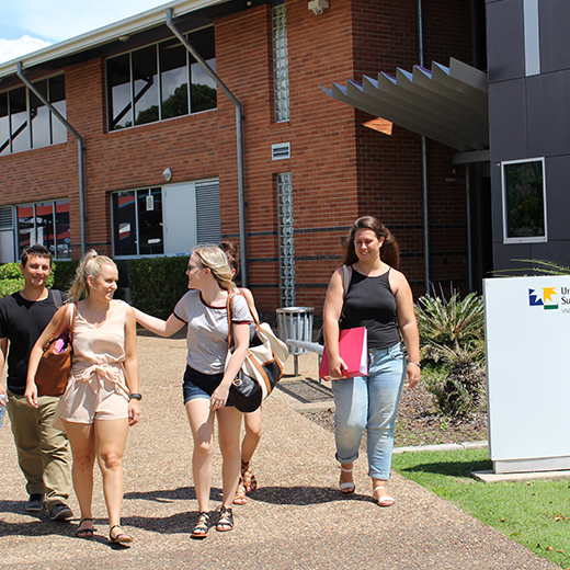 Students at the University of the Sunshine Coast's Fraser Coast campus