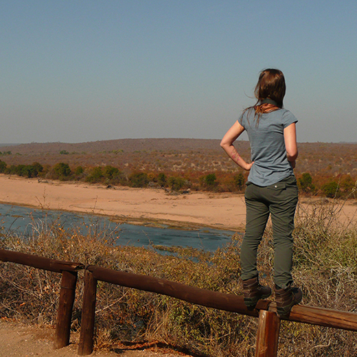 Leanne Bridges at Kruger National Park in South Africa, where she completed a 40-day work placement as part of her degree.