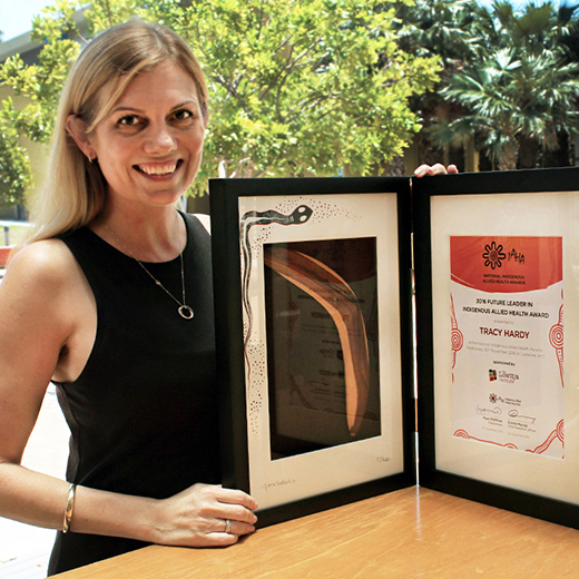 University of the Sunshine Coast student Tracy Hardy, whose efforts towards achieving better health for Indigenous Australians have earned her a national award.