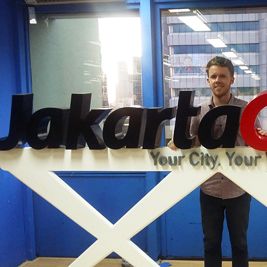 Arts Honours graduate Lachlan Haycock, 22, is interning at the Jakarta Globe.