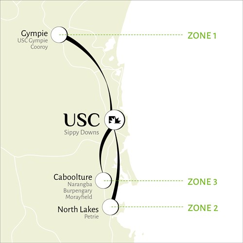 USC Express Shuttle routes