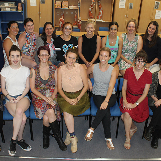 First-year USC Midwifery students.