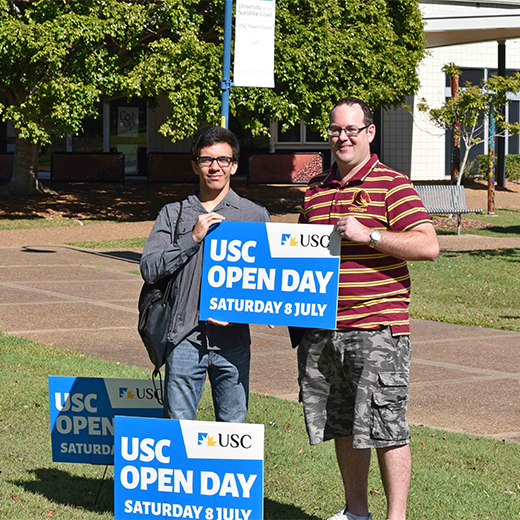 USC Fraser Coast Commerce students Ryan McMahon and Bronson Aukaha