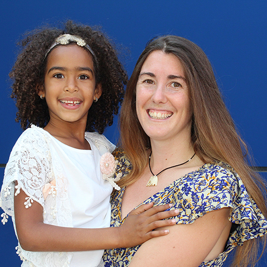 USC Chancellor's Medallist Sam Willcocks with her daughter Zakiya, 7.