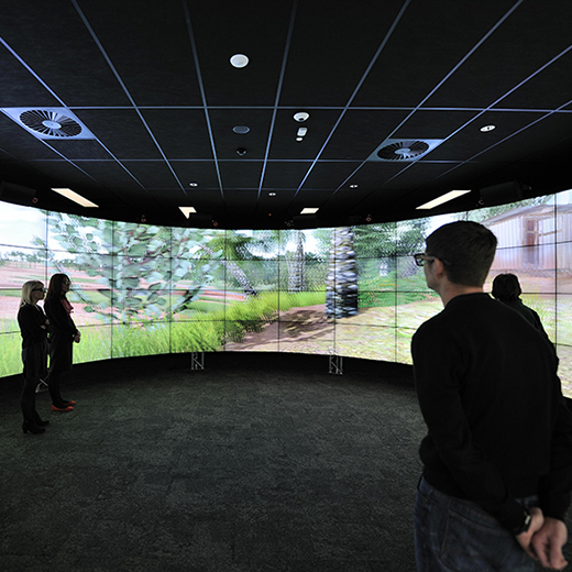 USC engineering students use the Cave2 visualisation technology