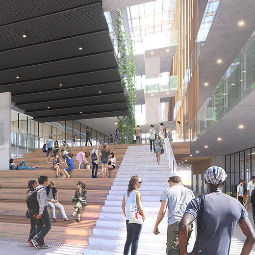 artist's impression USC Moreton Bay campus supplied by Hassell