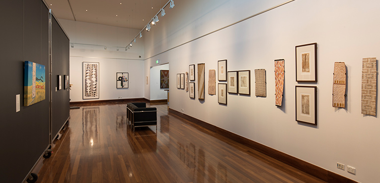 Installation view of Future Tense: Two Decades of Gifts from the Collection. Photo: Barry Alsop.