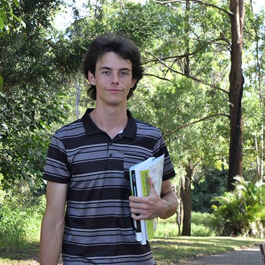 First-year USC Fraser Coast Commerce student Jared Pacey